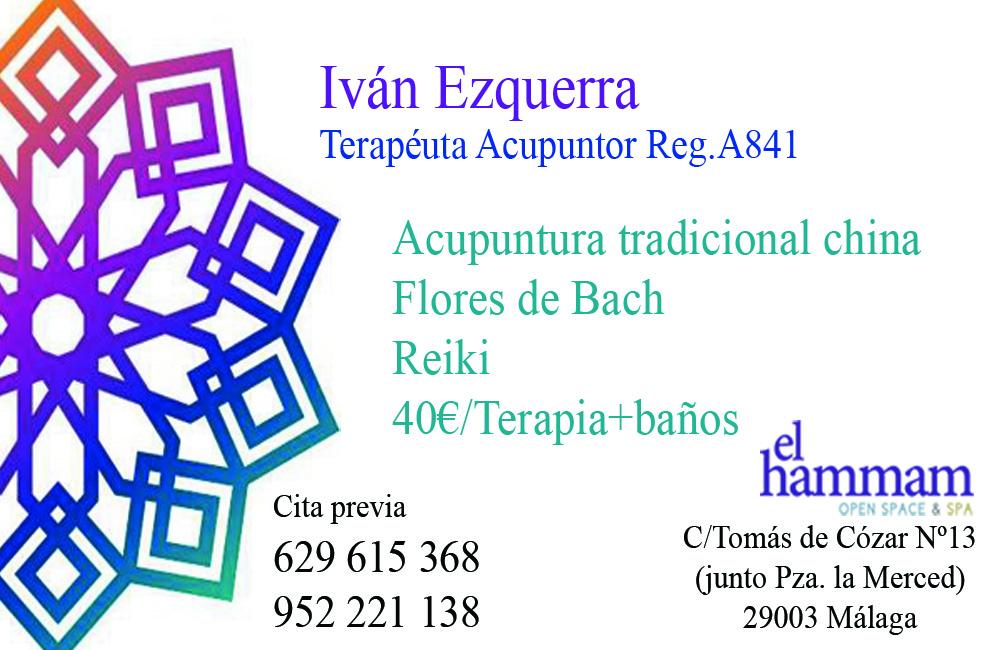 Terapeuta Acupuntor Ivan Ezquerra